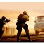 Two Marines in Path of a Truck Bomb
